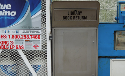 Library Book Drop at Beechmont, KY Stewart's Foodliner location